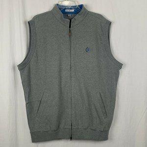 Peter Millar Men's Gray Full Zipped Vest - XL